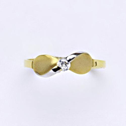 Zlatý prsten 1,66 g žluté zlato 14 karátů