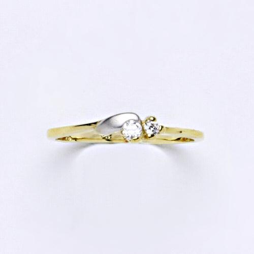 Zlatý prsten 1,88 g žluté zlato 14 karátů