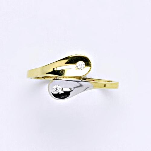 Zlatý prsten 1,79 g žluté zlato 14 karátů