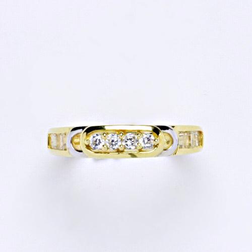 Zlatý prsten 2,82 g žluté zlato 14 karátů