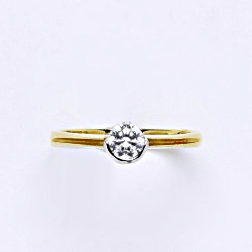 Zlatý prsten 2,60 g žluté zlato 14 karátů