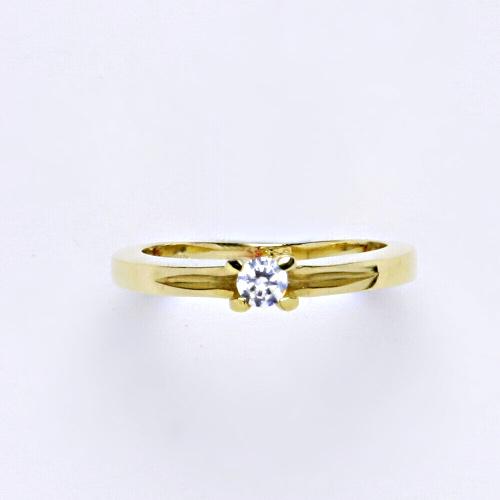Zlatý prsten 3,04 g žluté zlato 14 karátů