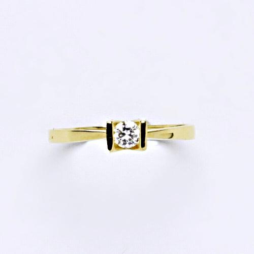 Zlatý prsten 1,47 g žluté zlato 14 karátů