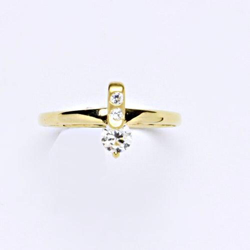 Zlatý prsten 1,26 g žluté zlato 14 karátů 1