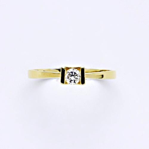 Zlatý prsten 1,55 g žluté zlato 14 karátů 1