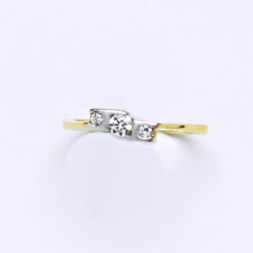 Zlatý prsten 1,70 g žluté zlato 14 karátů