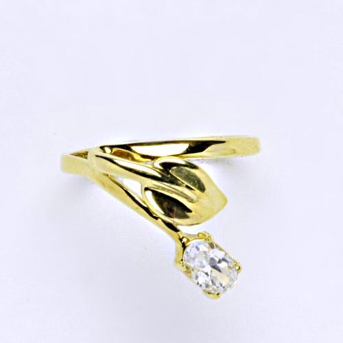 Zlatý prsten 2,53 g žluté zlato 14 karátů