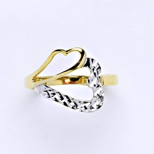 Zlatý prsten 2,32 g žluté zlato 14 karátů