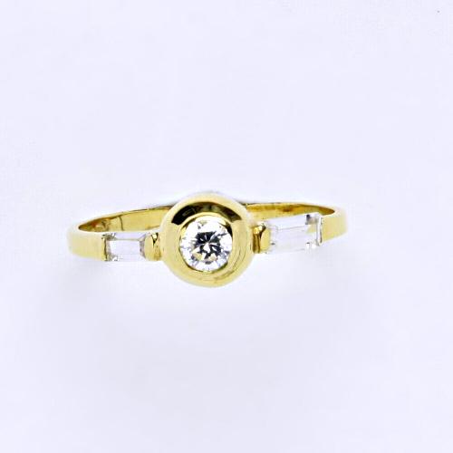 Zlatý prsten 1,59 g žluté zlato 14 karátů