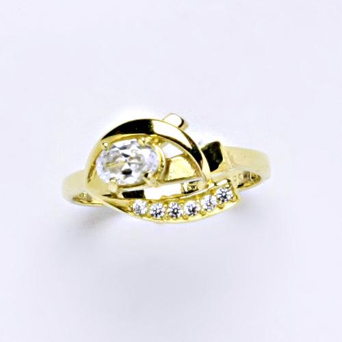 Zlatý prsten 3,25 g žluté zlato 14 karátů