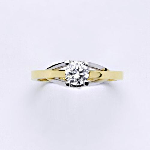 Zlatý prsten 3,06 g žluté zlato 14 karátů 1