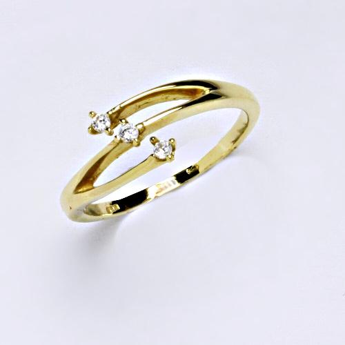 Zlatý prsten 2,34 g žluté zlato 14 karátů