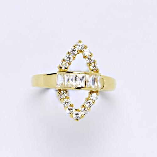 Zlatý prsten 2,56 g žluté zlato 14 karátů