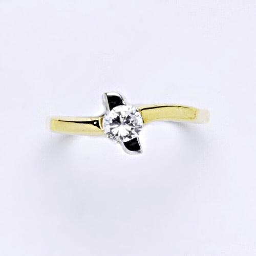 Zlatý prsten 2,31 g žluté zlato 14 karátů