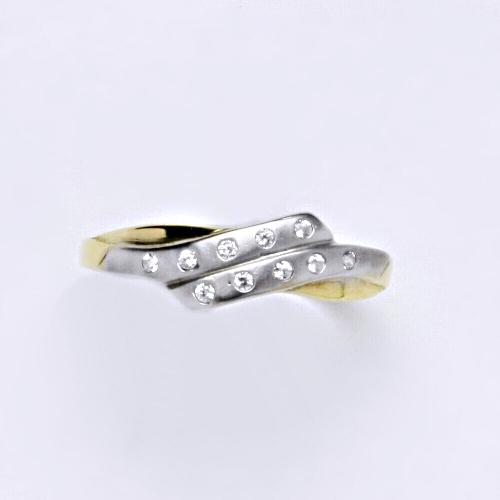 Zlatý prsten 2,02 g žluté zlato 14 karátů
