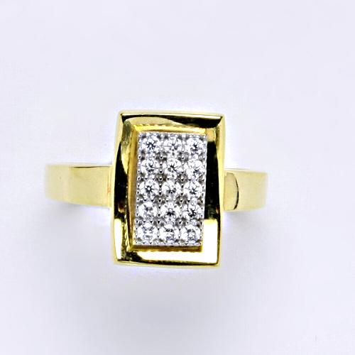 Zlatý prsten 4,05 g žluté zlato 14 karátů