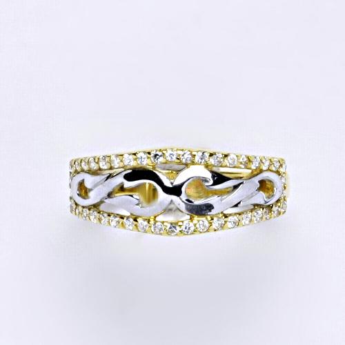 Zlatý prsten 2,86 g žluté zlato 14 karátů 1