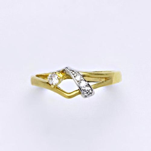 Zlatý prsten 2,00 g žluté zlato 14 karátů