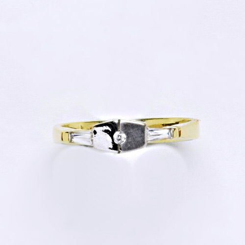 Zlatý prsten 2,80 g žluté zlato 14 karátů