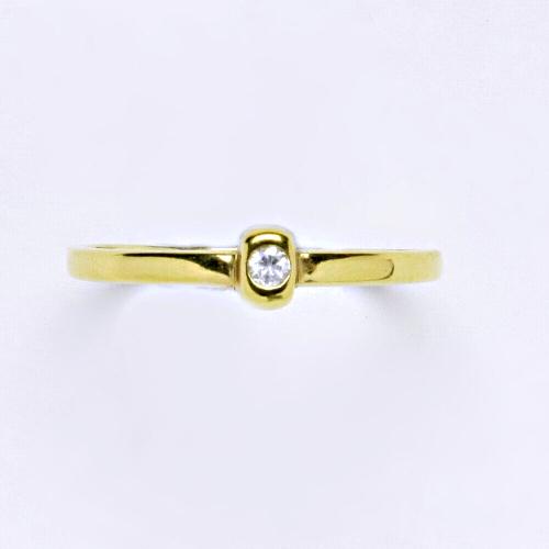 Zlatý prsten 2,03 g žluté zlato 14 karátů