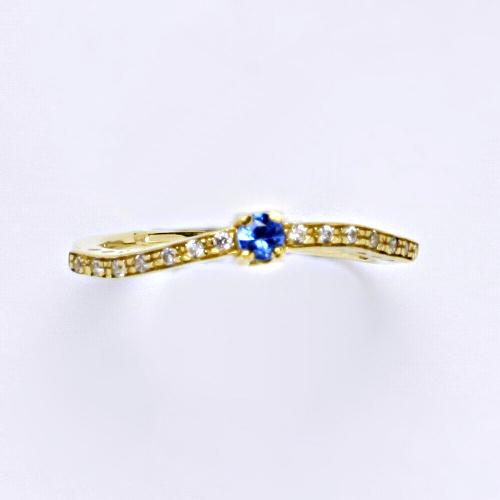 Zlatý prsten 2,57 g žluté zlato 14 karátů