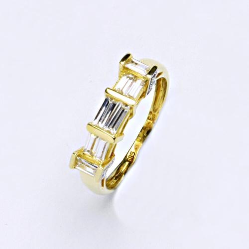 Zlatý prsten 2,35 g žluté zlato 14 karátů