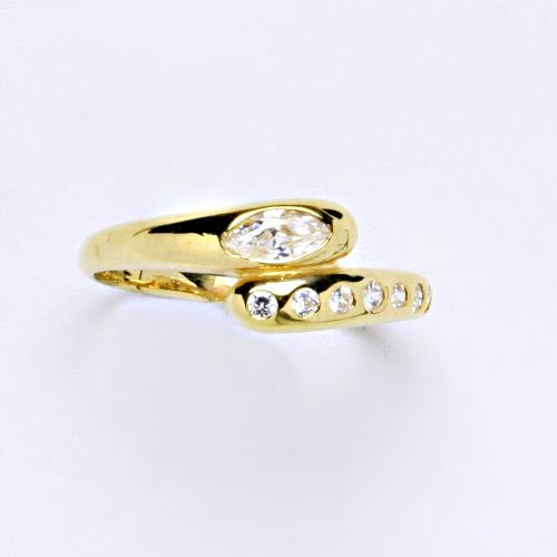 Zlatý prsten 2,29 g žluté zlato 14 karátů