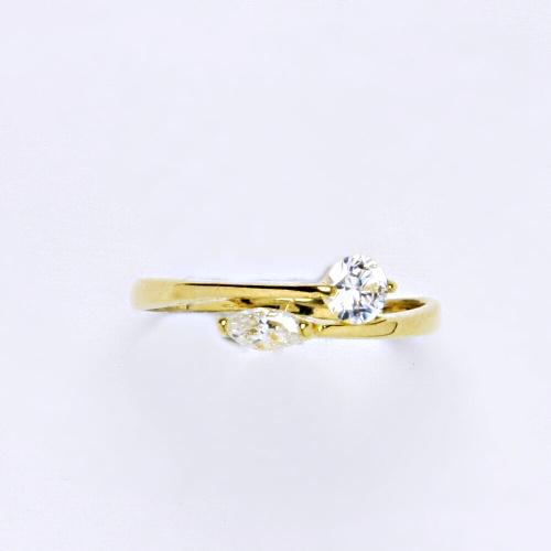 Zlatý prsten 1,53 g žluté zlato 14 karátů