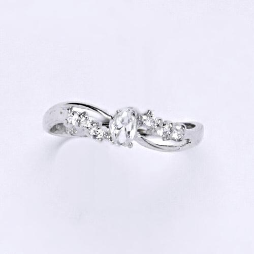 Zlatý prsten 1,78 g bílé zlato 14 karátů
