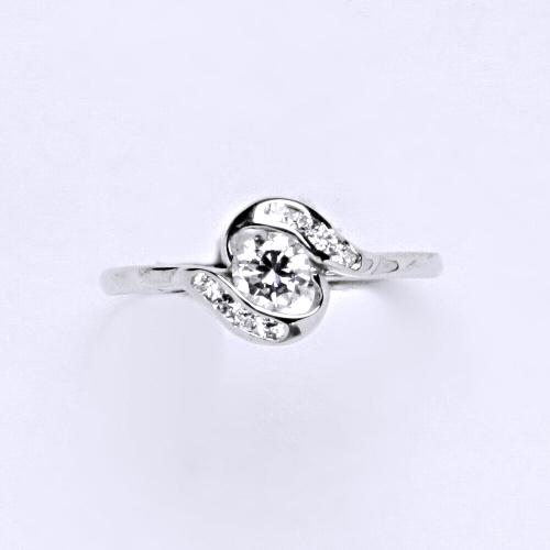 Zlatý prsten 1,65 g bílé zlato 14 karátů