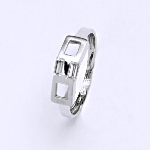 Zlatý prsten 1,83 g bílé zlato 14 karátů