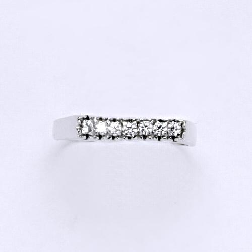 Zlatý prsten 2,39 g bílé zlato 14 karátů