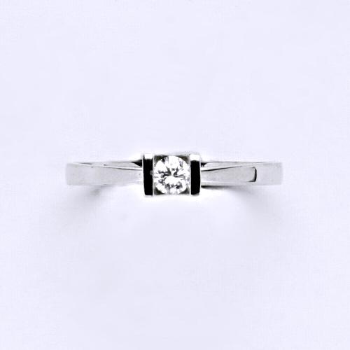 Zlatý prsten 1,75 g bílé zlato 14 karátů