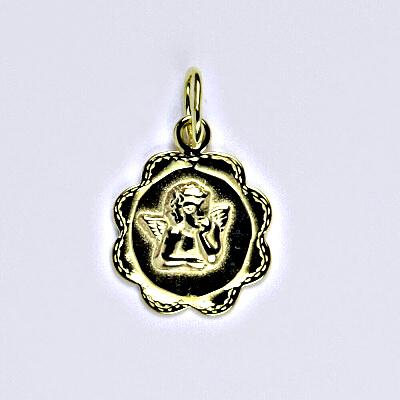 Zlatý přívěsek, andělíček, přívěsek ze žlutého zlata, P 799