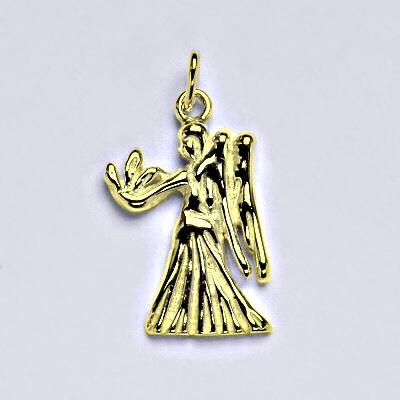 Zlatý přívěsek,znamení zvěrokruhu panna,žluté zlato,14 kt, P 982