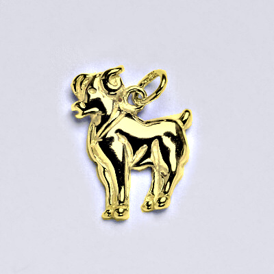 Zlatý přívěsek,znamení zvěrokruhu beran,žluté zlato,14 kt, P 982