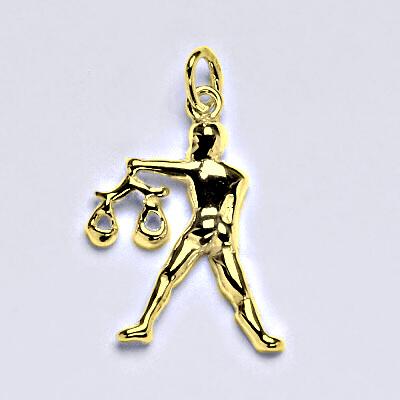 Zlatý přívěsek,znamení zvěrokruhu váhy,žluté zlato,14 kt, P 982