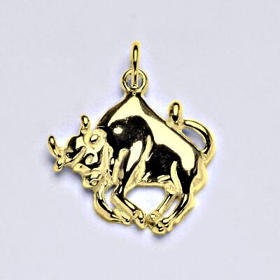 Zlatý přívěsek,znamení zvěrokruhu býk,žluté zlato,14 kt, P 982