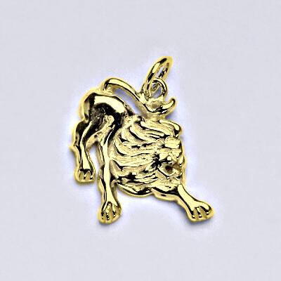 Zlatý přívěsek,znamení zvěrokruhu lev,žluté zlato,14 kt, P 982