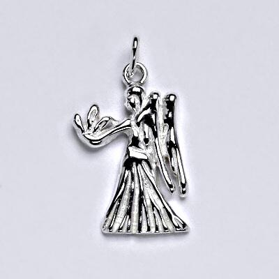 Zlatý přívěsek,znamení zvěrokruhu panna,bílé zlato,14 kt, P 982