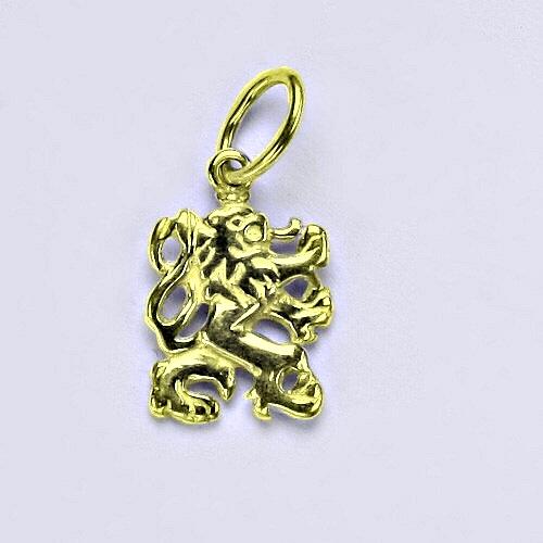 Zlatý přívěsek český lev, přívěsek ze zlata, žluté zlato,14 kt, P 826