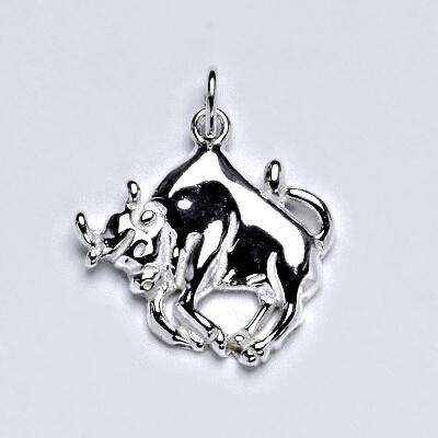 Zlatý přívěsek,znamení zvěrokruhu býk,bílé zlato,14 kt, P 982