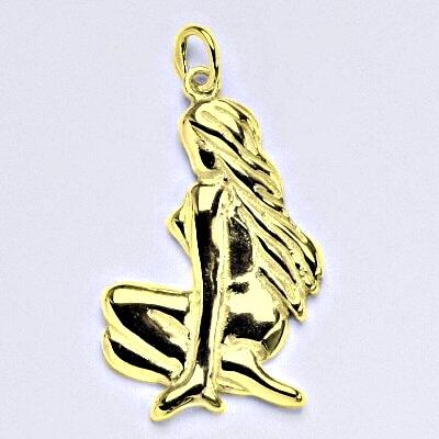 Zlatý přívěsek, znamení zvěrokruhu panna, žluté zlato,14 kt, P 941