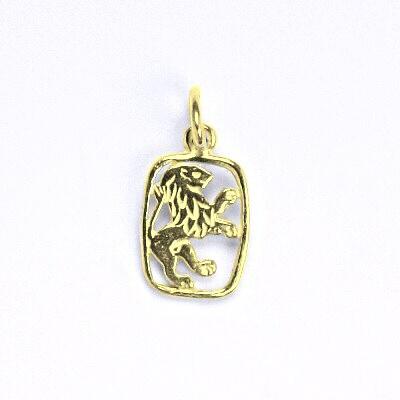 Zlatý přívěsek, znamení zvěrokruhu lev ,žluté zlato,14 kt, P 730