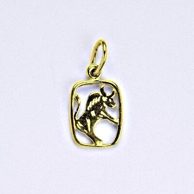 Zlatý přívěsek, znamení zvěrokruhu býk, žluté zlato,14 kt, P 730