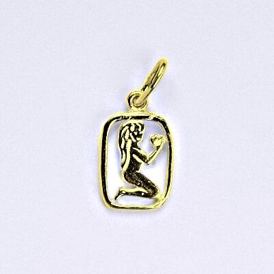 Zlatý přívěsek, znamení zvěrokruhu panna, žluté zlato,14 kt, P 730