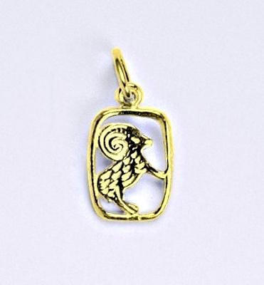 Zlatý přívěsek, znamení zvěrokruhu beran, žluté zlato,14 kt, P 730
