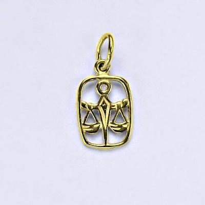 Zlatý přívěsek, znamení zvěrokruhu váhy, žluté zlato,14 kt, P 730