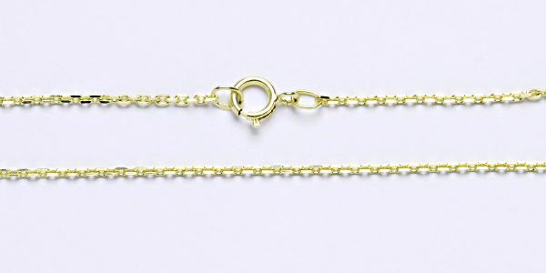 Zlatý řetízek, žluté zlato, Cable MO4D 0,40, anker, 38 cm 40 cm 42 cm 45 cm 50 cm 55 cm