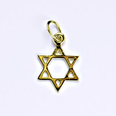 Zlatý přívěšek Davidova hvězda, žluté zlato, P 762